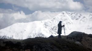 Bild: Greider fotografiert ganz unschuldig die Berge.