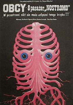 Polnisches Alien-Poster