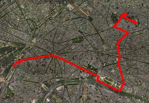 Route des Claude Lelouch Film in Paris
