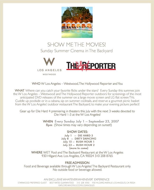 Summer Cinema at the W Hotel LA
